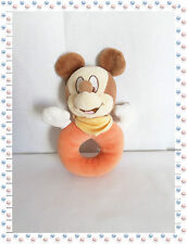 N - Doudou  Hochet Grelot  Mickey Orange Marron ... Disney Nicotoy
