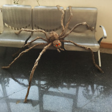 Giant Spider 8 Legged Hairy Halloween Party Event Decoration With Led Light Eyes