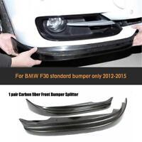 für BMW 3ER F30 F31 Carbon Flaps Splitter Diffusor Frontlippe Vorne Spoiler