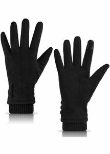 Womens Gloves Winter Touch Screen Texting Phone Windproof Fleece Line Thick Warm