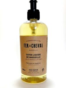 Liquid Soap - Unscented Fer a Cheval - Marseille 16.9 oz Made in France