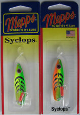 2 - Mepps Syclops Spoons - 1/4 oz. - Hot Firetiger & Hot Lime/Chartreuse