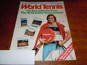 "VINTAGE NOVEMBER 1978 "" WORLD TENNIS "" MAGAZINE - EDDIE DIBBS COVER"