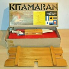 More details for 'kitamaran' wooden catamaran sail boat model by jigsaw factory, australia 1972