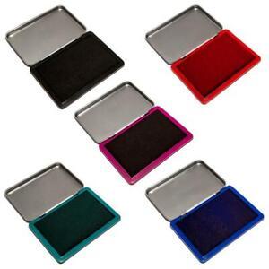 Getränkte Metall-Stempelkissen 7 x 11 cm Größe 2 schwarz blau rot grün getränkt