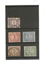 Netherlands, 5 Definitive stamps. 1898.