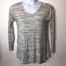 A Pea in the Pod Marled Gray Nursing Top Medium M Long Sleeve Shirt Sweatshirt