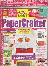 PAPERCRAFTER UK Issue 87 2015 Christmas Projects Card Ideas NO CARDS Incomplete
