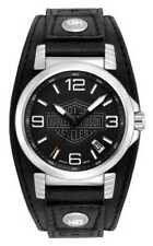 Harley-Davidson Men's Bulova Ghost Bar & Shield Watch READ DESCRIPTION $225