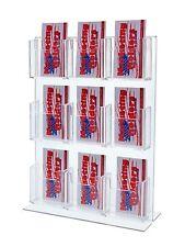 Bottom Loading Counter Top 9 Pocket Vertical Business Card Holder Display