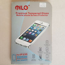 Milo Premium Tempered Glass Screen Protector Home Button iPhone 5 5S Zubehör Set