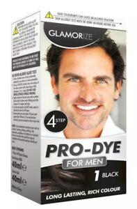 Glamorize Pro Dye Black Colour Hair Dye For Men Shade 1 - Black (Pack Of 2)