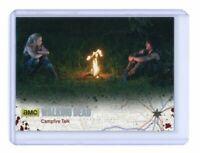 The Walking Dead Season 4 Part 1 Card 45 Silver Base Parallel /99 Campfire Talk