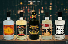 GIN TASTING 5 x 500ml Top Gin-Sorten NEU selten Handcrafted & small batches