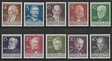 GERMANY 1952-53 Berlin Famous Berliners SG B91-B100 MH/* (CV £170)
