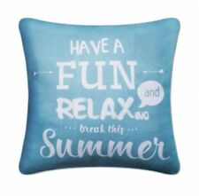 Super Filled Blue Have Fun Relax Cushion Pillow