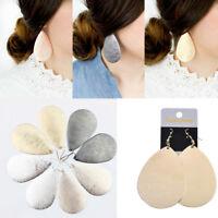 Women Unique Distinctive Jewelry Large Metallic Teardrop Drop Dangle Earrings