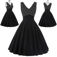 LADY Polka Dot Vintage Style Dress 40s 50s PROM NEW Cocktail Evening Party Swing