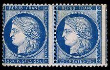 1870-73 FRANCE #58 PAIR - CERES ISSUE MOGNH - F - CV $250.00 (ESP#8548)