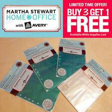 Sheet Protectors 55x85 2 4 Secure Top Pocket Teal Clear Martha Stewart Office