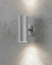Konstsmide Modena 2-Light Outdoor Up And Down Wall Light Sconce, Grey