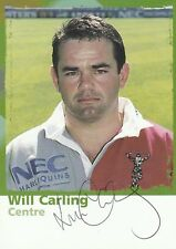 Will Carling (Harlequins & England) Signed 6x4 Colour Promo Card