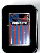 Zippo Lighter World Cup 98 Soccer Red & Blue Collectibles