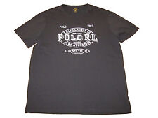 Polo Ralph Lauren Black Crewneck Mens Athletics Graphic T Tee Shirt 4XB 4XL Big