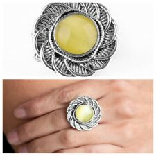 """Gardenia Glow"" Yellow Ring By Paparazzi"