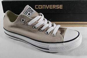 Converse All Star Lace Up, Beige, Textile/Canvas, New