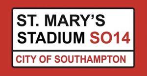 St Marys Stadium Metal Sign, Football sign, Southampton FC sign. Retro wall sign