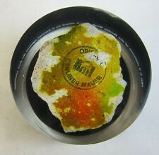 Authentic 1989 Piece of Painted BERLIN WALL in Lucite Paperweight Time Warner