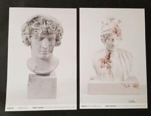 "2 Daniel Arsham posters- ""Rose Quartz Eroded Bust of Rose  Divinisée"""