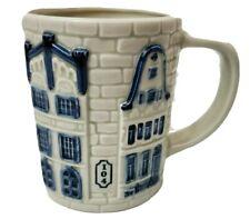 DELFT BLUE HANDPAINTED HOLLAND MUG COFFEE TEA De Keizergracht Series House Home