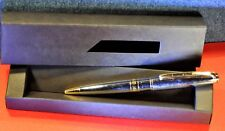 """CERRUTI"" 1881  Stainless Steel /GT Ball point pen w/Soft box"