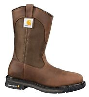 "Carhartt CMP1208 Men's 11"" Square Steel Toe Wellington Boots Leather Work Shoes"