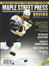 Boston Bruins Annual hockey magazine Scouting Cam Neely Stats Zdeno Chara