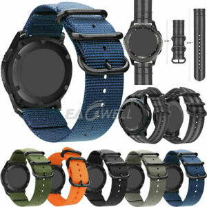 Two-Piece Nylon Canvas Military Sport Unisex Watch Band Strap 20mm Quick Release