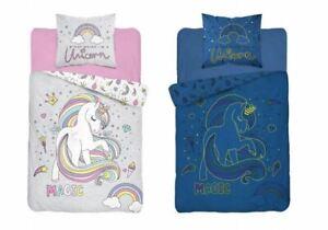 Girls Bedding Set Duvet Cover Pillowcase Set Unicorn Glow In The Dark 160x200cm