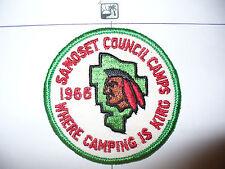1966 Camp Tesomas Indian Patch,pp,R/E Bd,Samoset Council,OA 96,Tom Kita Chara,WI