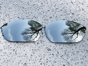 ENGRAVED POLARIZED SILVER MIRROR REPLACEMENT LENSES FOR OAKLEY HALF JACKET 2.0