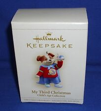 Hallmark Child's Age Ornament My Third Christmas Boy 2006 Superhero Dog Plane