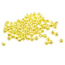 Gold Plated Stardust Sparkle Round Beads 4mm (100pcs) X7C8