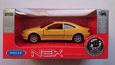 WELLY '97 PEUGEOT 406 COUPE YELLOW 1:34 DIE CAST METAL MODEL NEW IN BOX