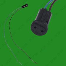 10x G4 BASE Nero Lampada titolare Socket Cavo, Alogena, Lampadina LED Luce verso il basso RACCORDO