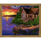 Wizardi Evening Harbour Kit & Frame Paint-by-Number Kit