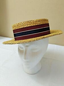 Vintage J.S.Wilson Straw Hat London