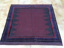 4.6 x 4.7 Multi-Weave Fine Afghan Tribal Geometric Design 100% Wool Rug SZM-4647