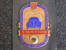 NOS VW ADAC WOLFSBURG 1 MILLION PLAKETTE BADGE VOLKSWAGEN BUG COX KDF SPLIT 1955