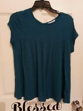 Time and Tru teal babydoll style top small